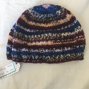 Accessories - 🆕 Hand knit striped hat beanie - NWT